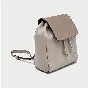 Zara chain link suede backpack